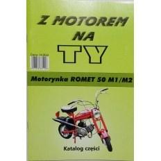 ILUSTROWANY KATALOG CZĘŚCI ROMET PONY M1/M2 (MOTORYNKA)
