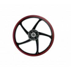FERRO 900 50CCM FELGA 17x1,4 KOŁA TYŁ (czarno-czerwona) (szczęki)