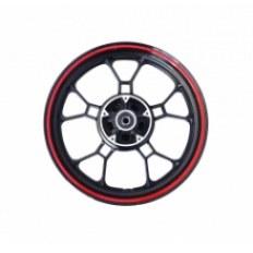 JUNAK RSX FELGA 17x3,50 KOŁA TYŁ (czarno-czerwona) (6-ramienna) (tarcz)