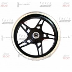FERRO 802 FELGA 12x3,50 KOŁA PRZÓD (czarna) (aluminiowa)