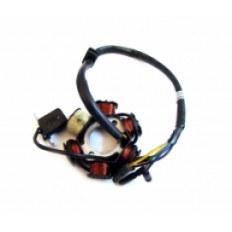 SILNIK 125 FMB ISKROWNIK FMB KPL. (6 cewek) (kostka 4 piny + przewód)