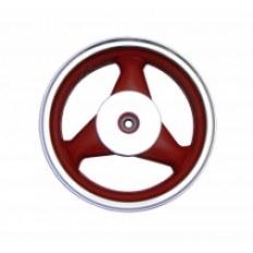 FERRO 602/605 FELGA 12x3,50 KOŁA TYŁ (aluminiowa) CZERWONA (19 frezów; szczęki; 4-SUW)