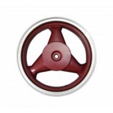 FERRO 601 FELGA 12x3,50 KOŁA TYŁ (aluminiowa) BORDOWA (19 frezów; szczęki; 4-SUW)