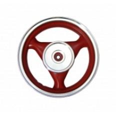 FERRO 605 FELGA 13x3,50 KOŁA TYŁ (aluminiowa) CZERWONA (19 frezów; szczęki; 4-SUW)