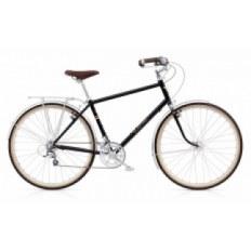 """Rower ELECTRA 28"""" TICINO 20D BIEGOWY, CZARNY Z DŁUŻSZĄ KORBĄ, ALUMINIOWY MĘSKI 294045"""