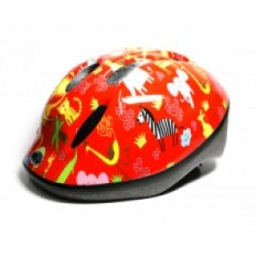 KASK LONGUS FUNN ANIMALS RED XS(48-54CM)